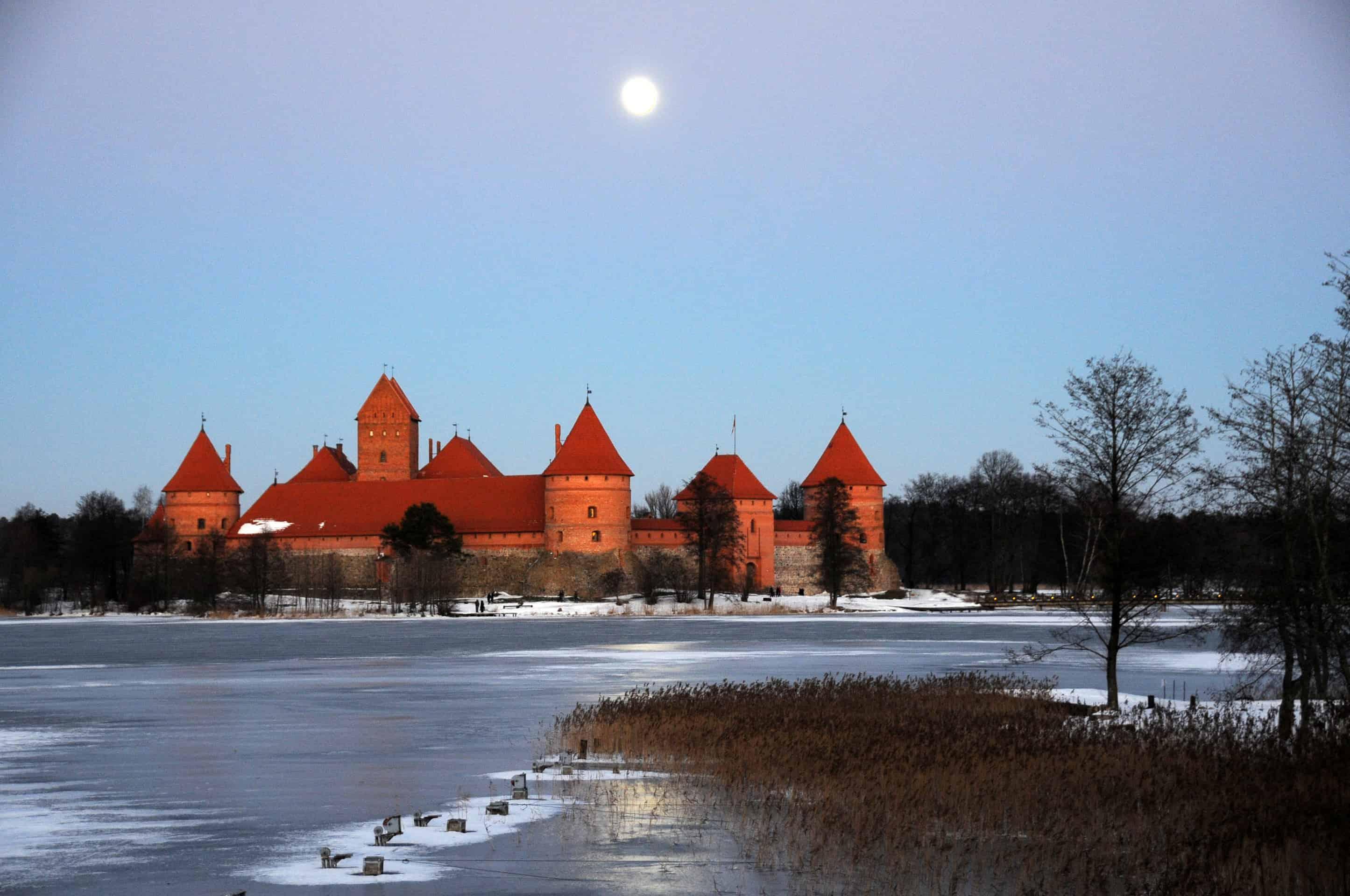 Winter at Trakai Castle