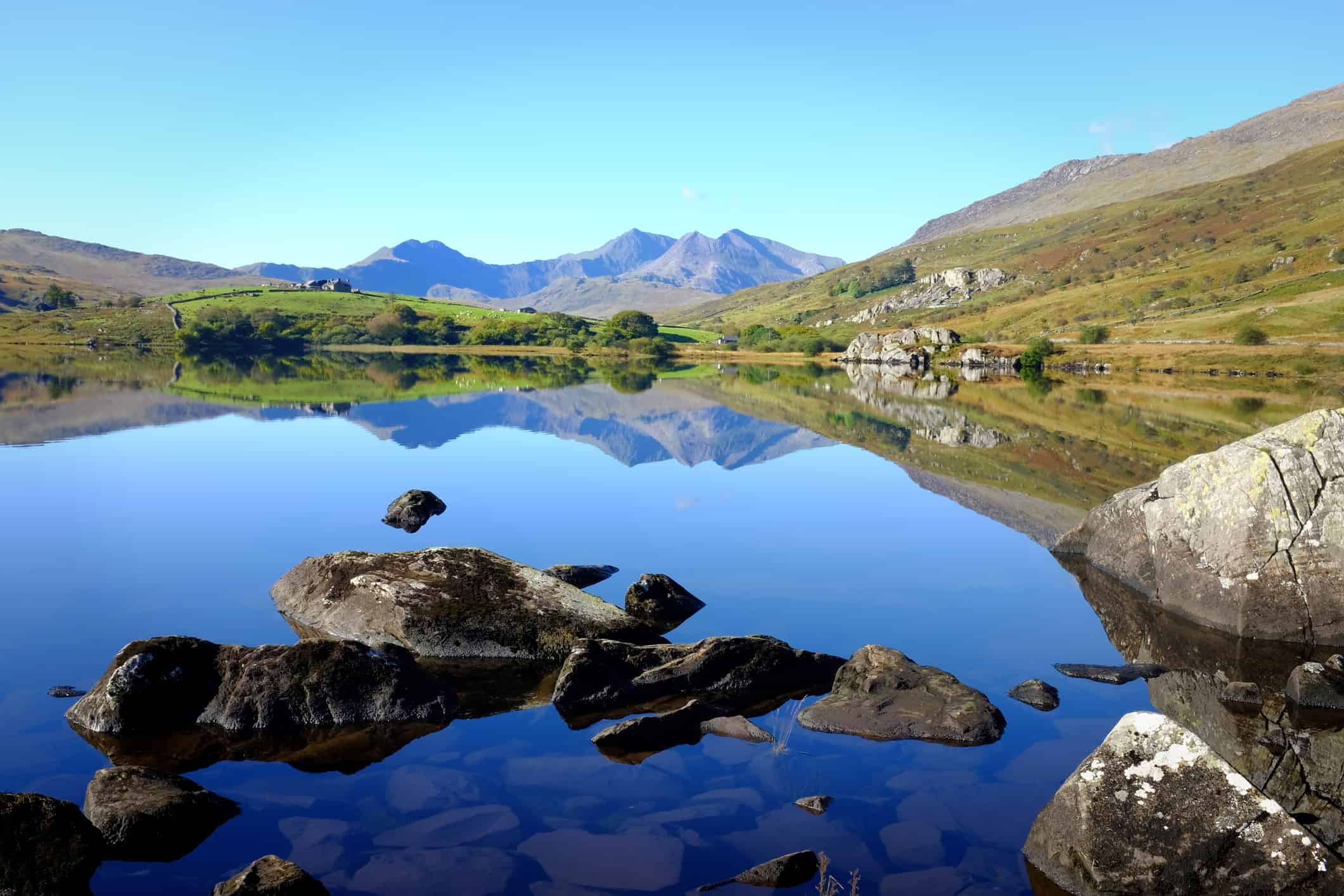 View of the mountains in Snowdonia, Wales, UK