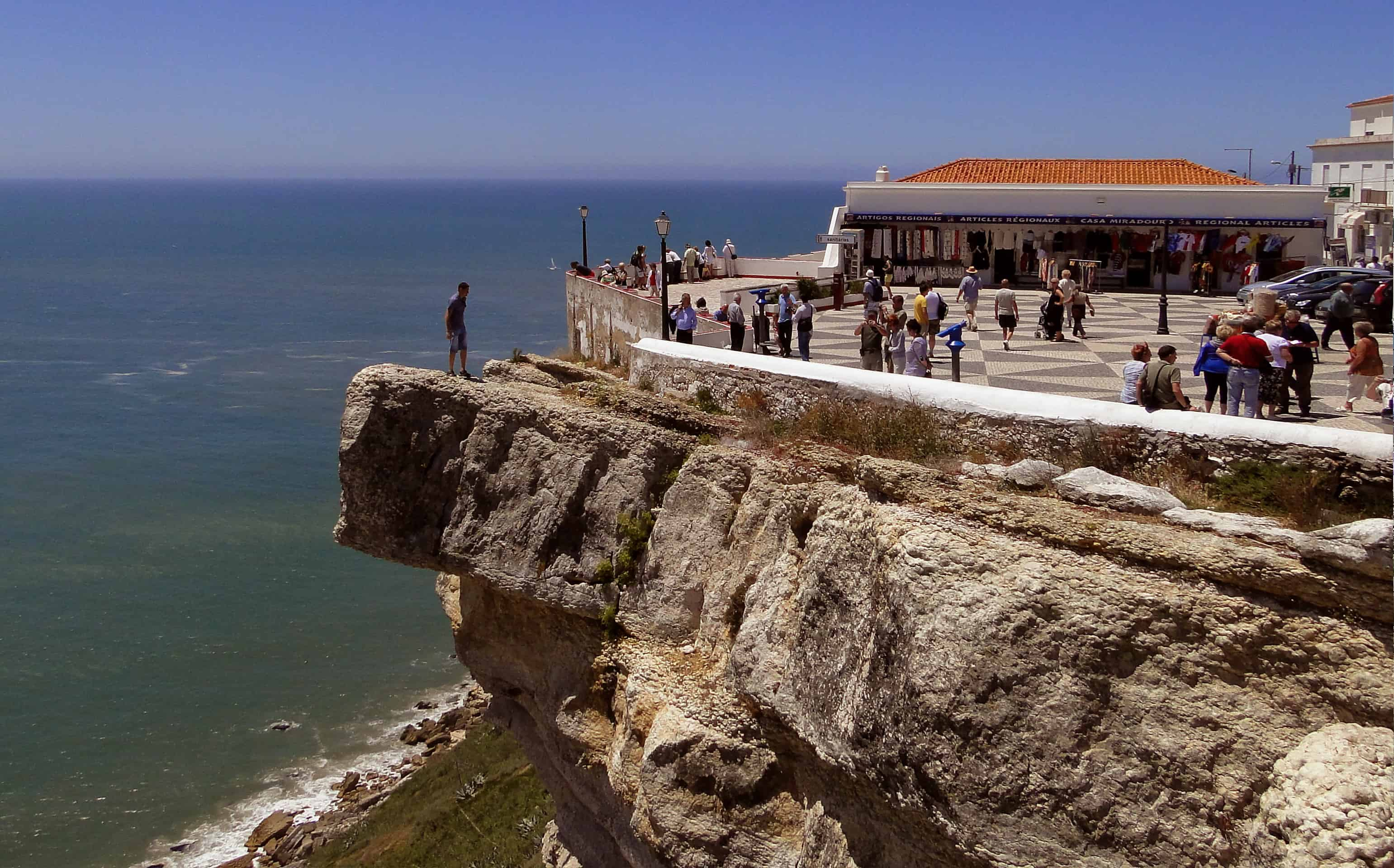 The scenic viewpoint over Nazare