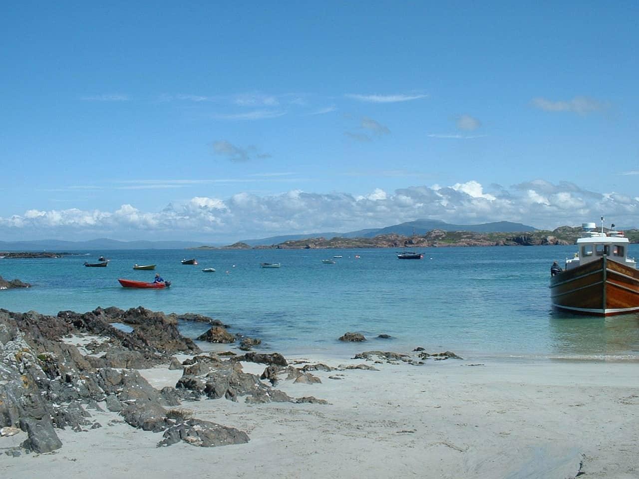 A beach in Iona