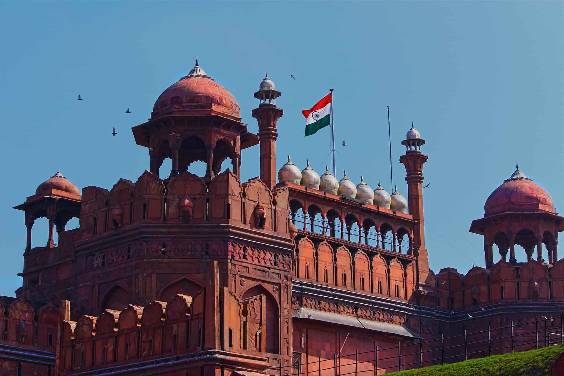 The Indian flag flies high at the Red Fort