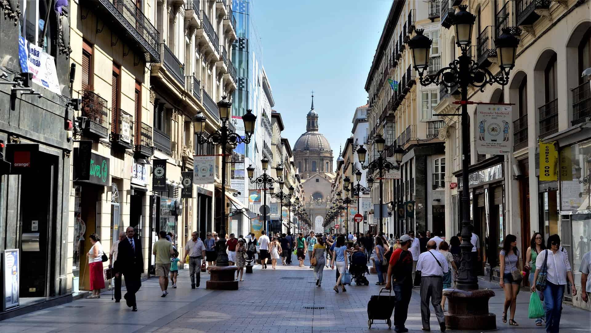 Zaragoza town centre