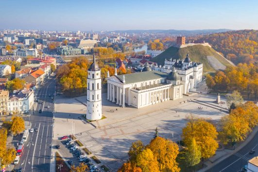 Cathedral Square, Vilnius Cathedral, Vilnius, Lithuania