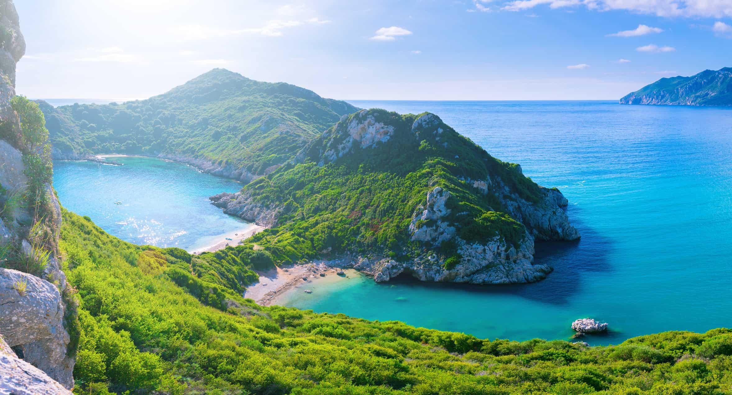 Agios Stefanos cape. Afionas. Corfu. Greece.