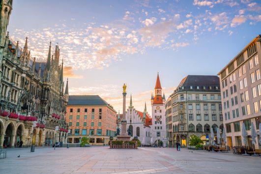 Old Town Hall at Marienplatz Square in Munich
