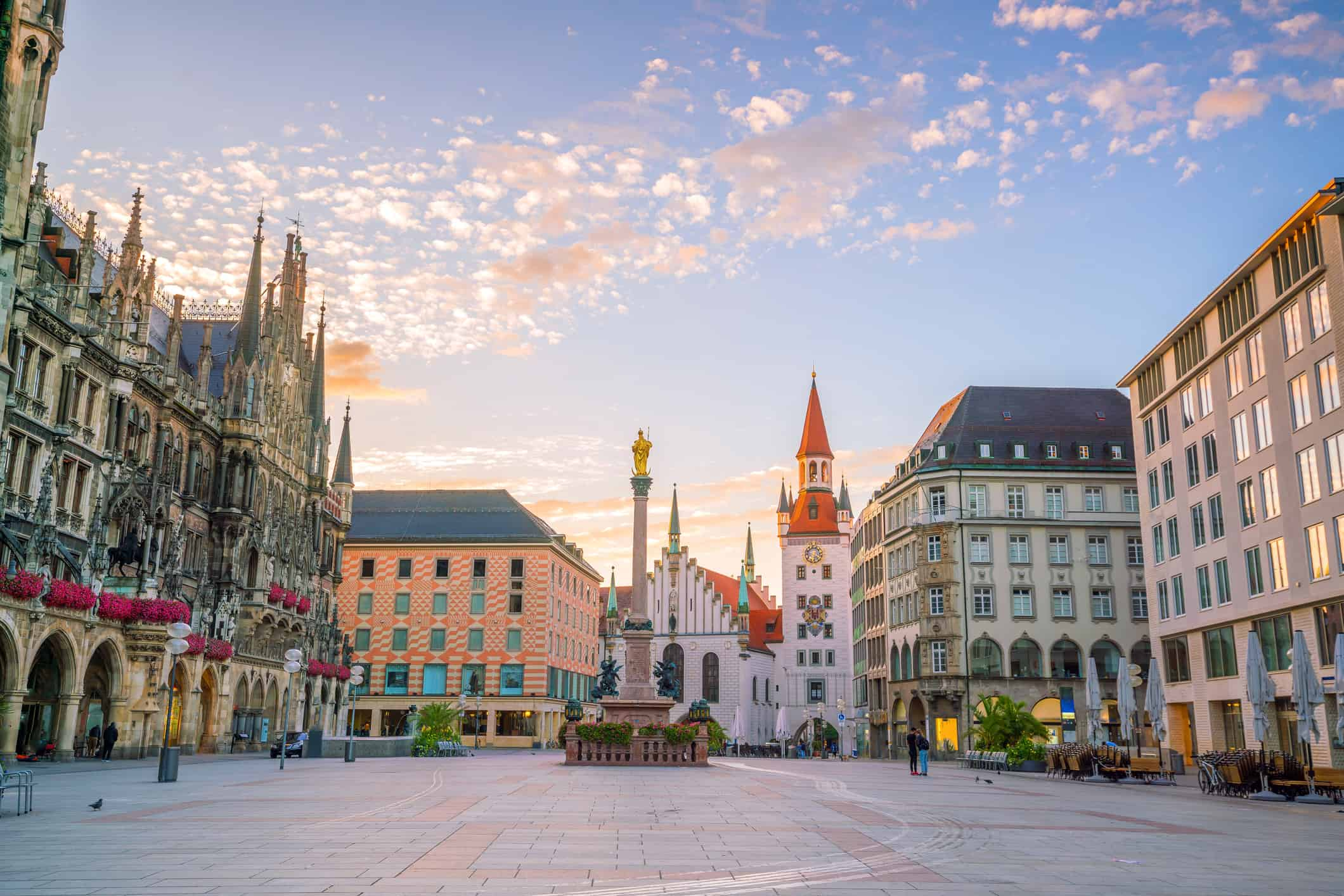 Old Town Hall at Marienplatz Square in Munich