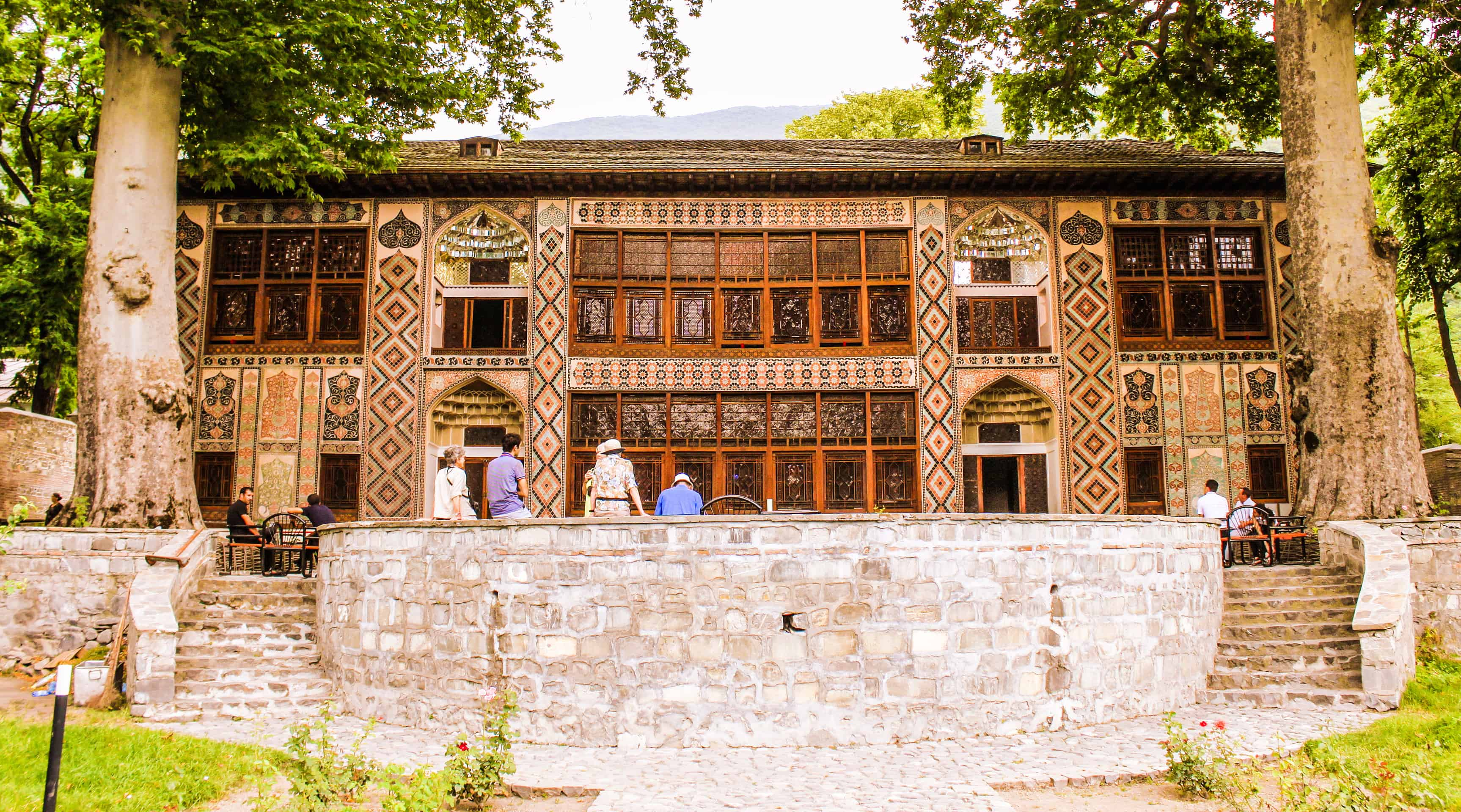 Facade of the Khan's Palace, Sheki, Azerbaijan