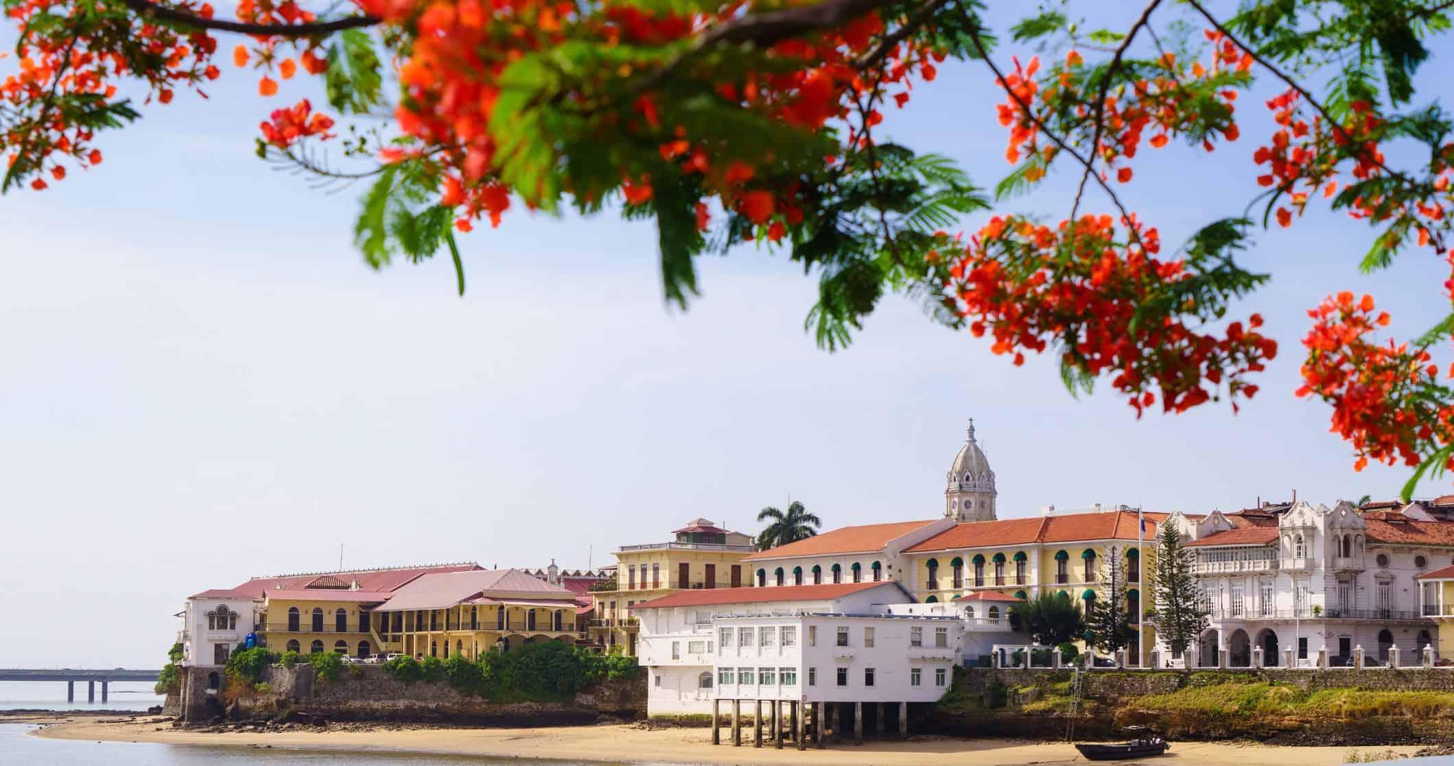 View of Casco Viejo in Panama City, Panama