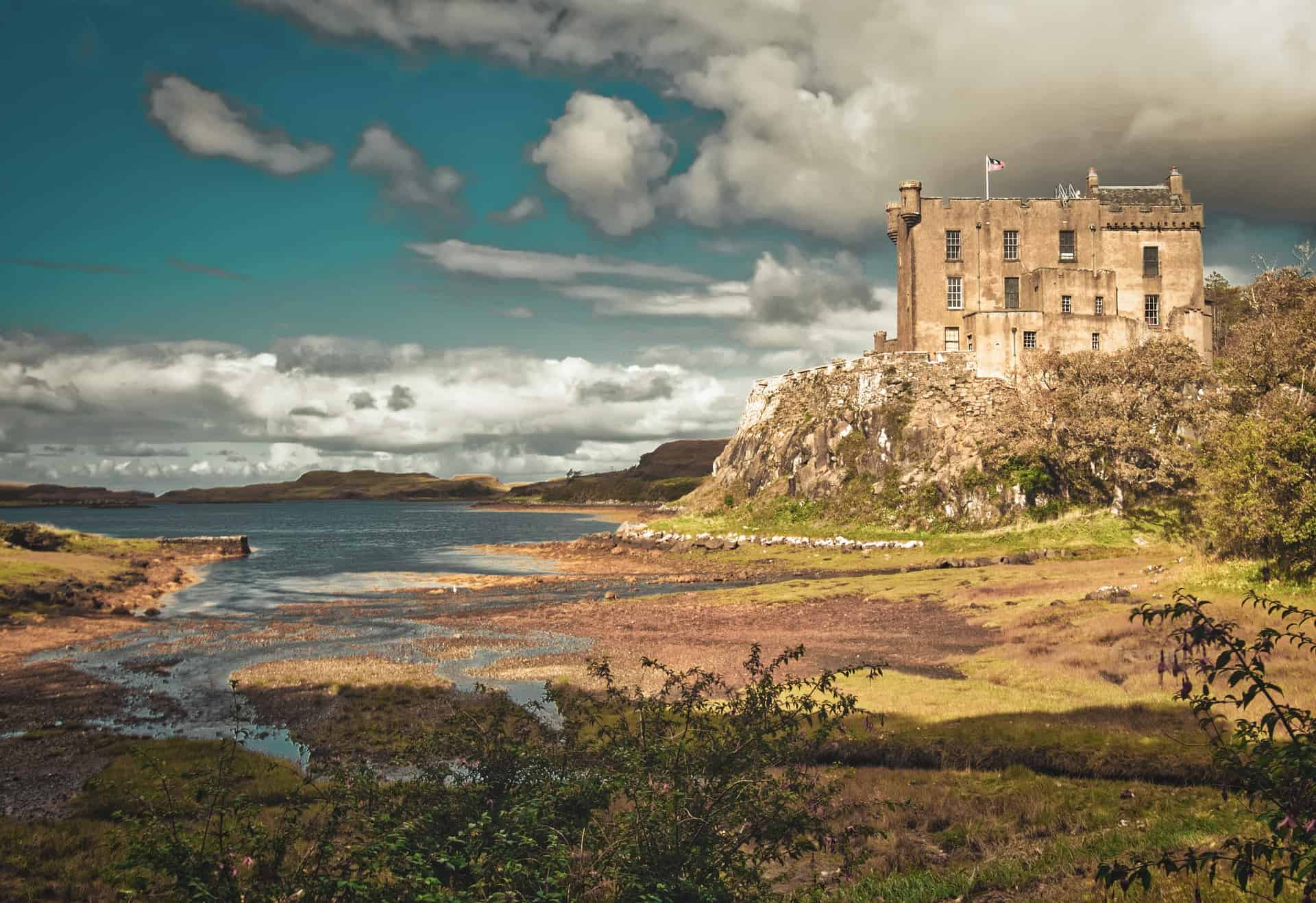 Dunvegan Castle, located off the west coast of Scotland