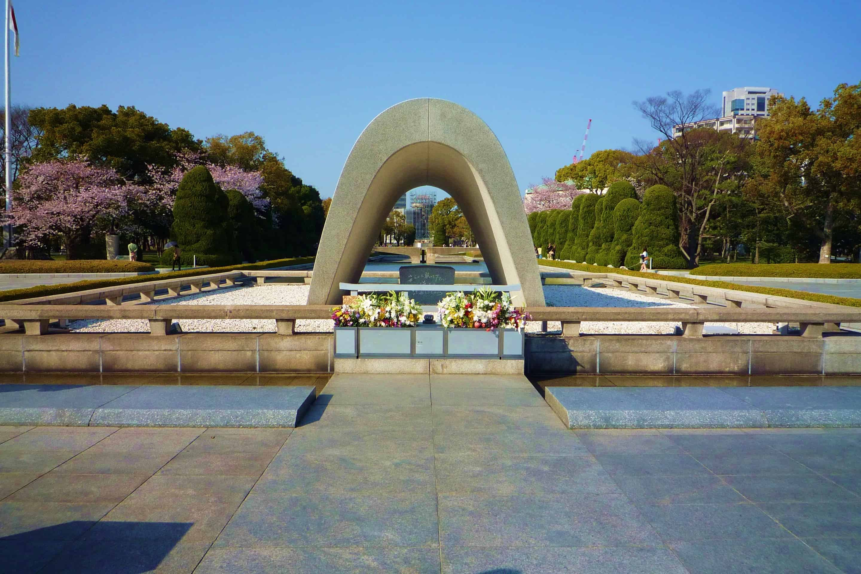 Memorial Cenotaph in Hiroshima, a monument containing the names of the dead