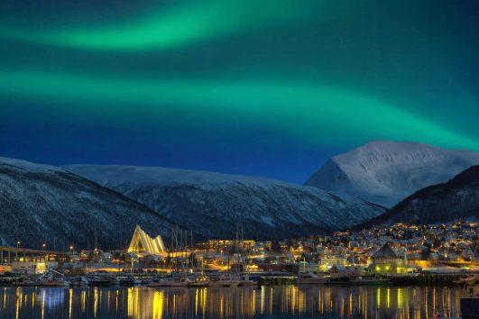 Tromso at night