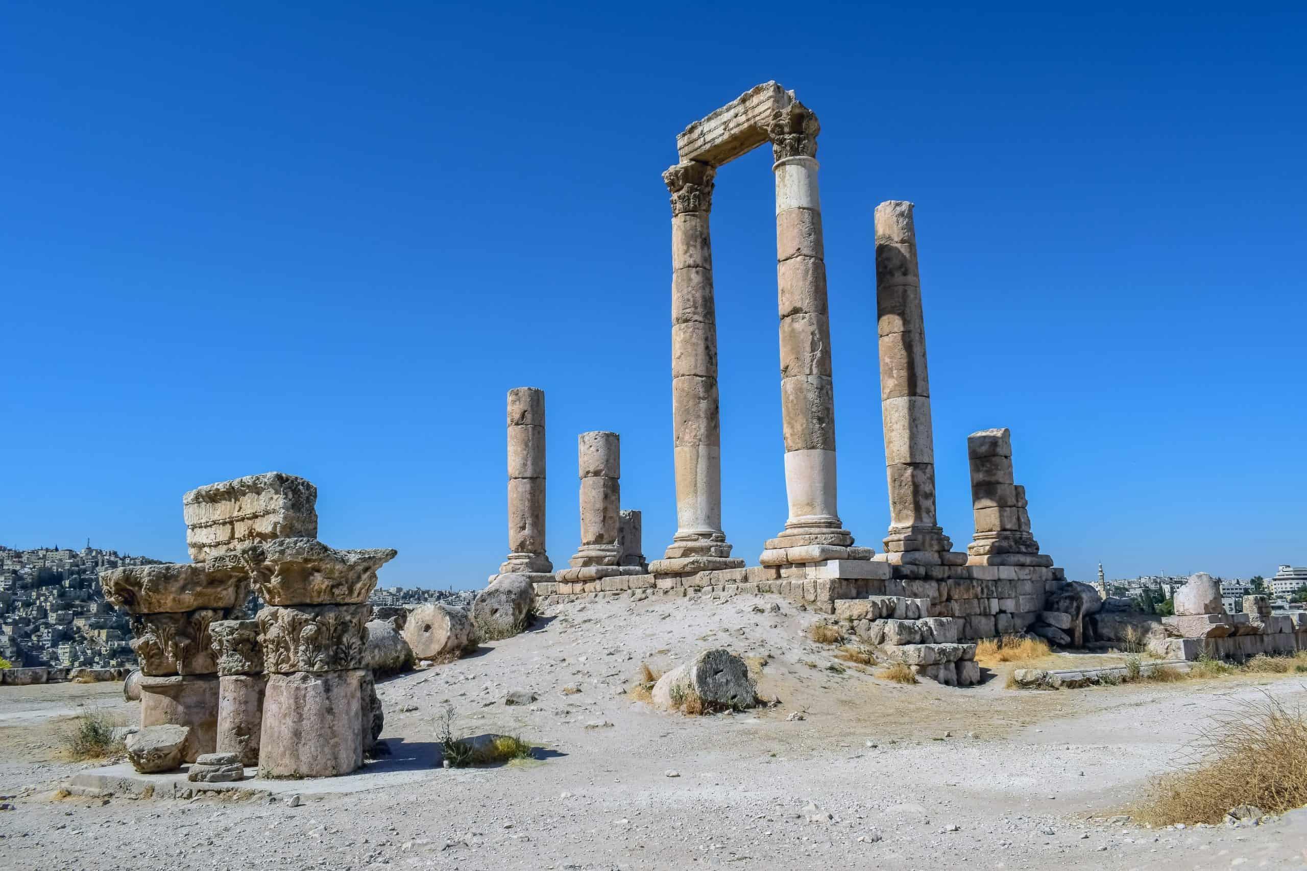 Temple of Hercules at the Citadel, Amman, Jordan