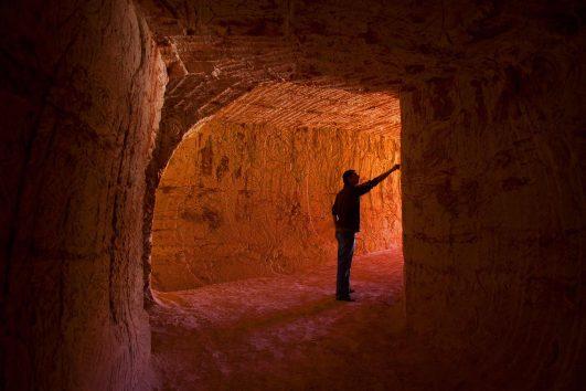 Coober Pedy, mine tunnel