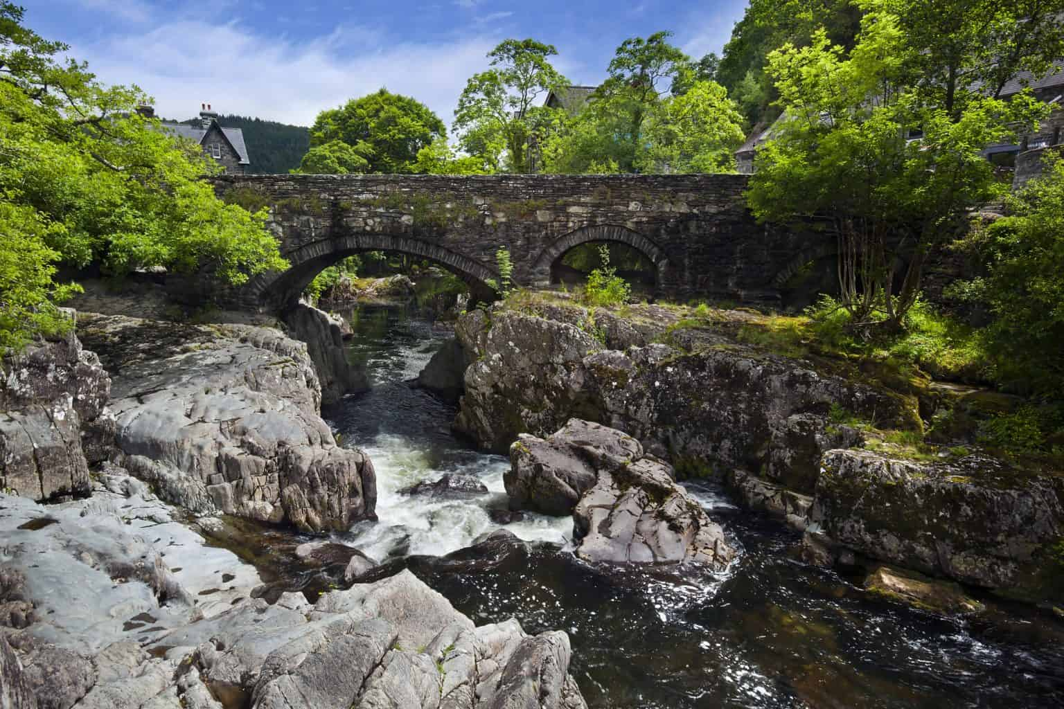 Pont-y-Pair Bridge and River Llugwy in Betws-y-Coed