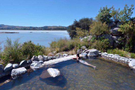 Outdoors hot pool in Rotorua, New Zealand.