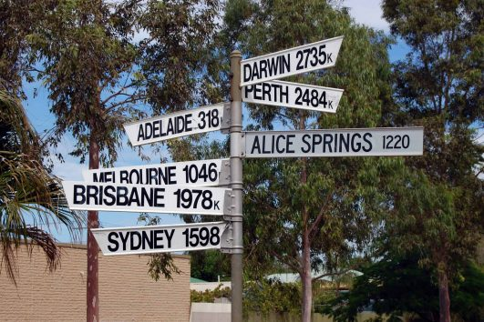 Directions sign in Port Augusta