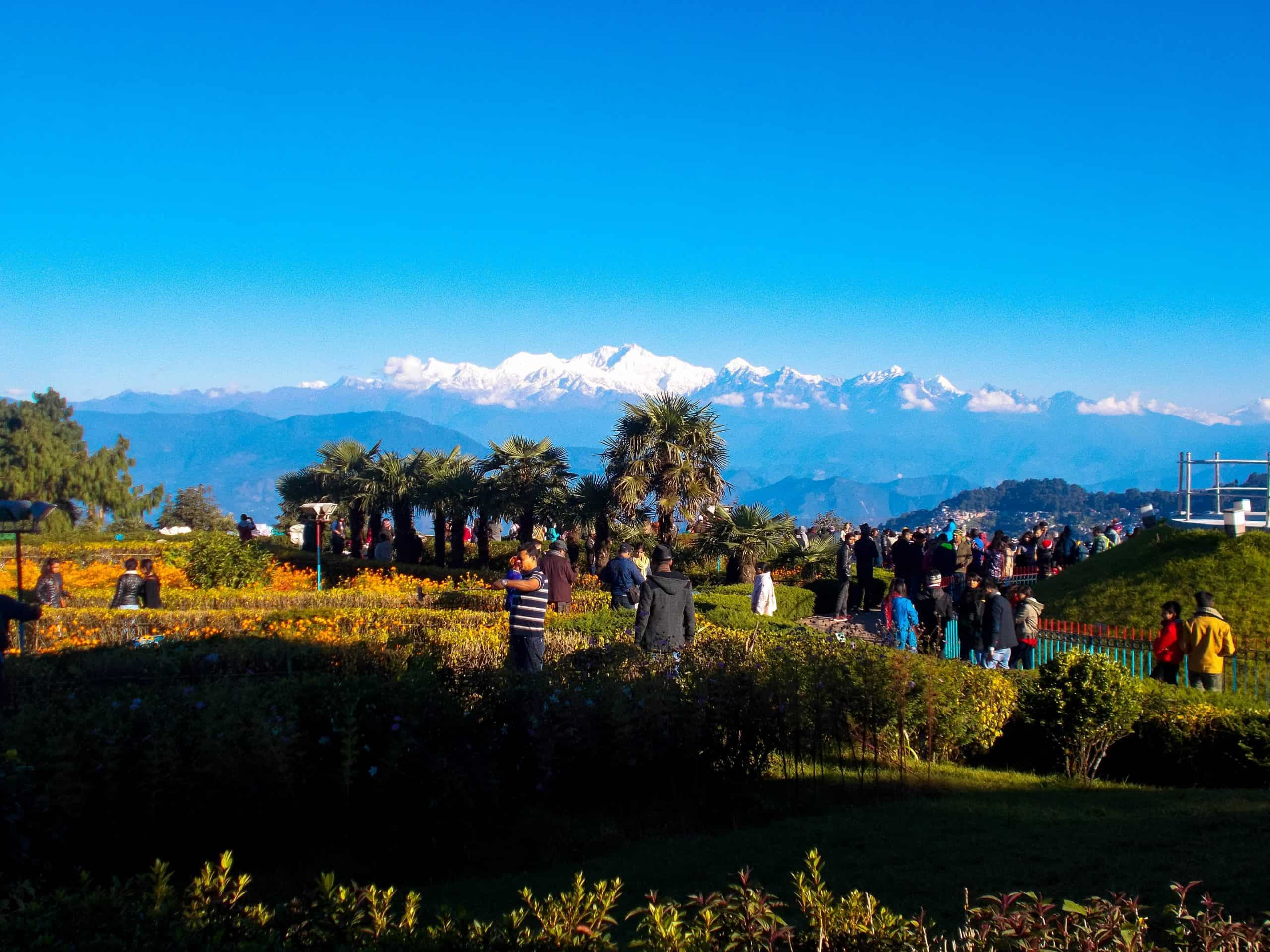 View from Batasia Loop, Darjeeling Himalayan Railway, India