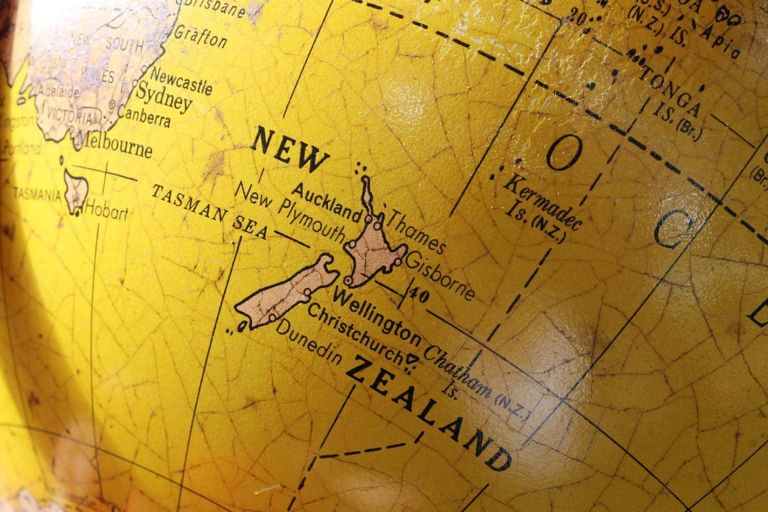 New Zealand world map