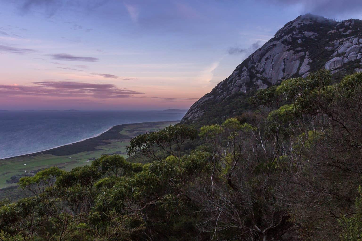 Mt Strzelecki in Flinders Island