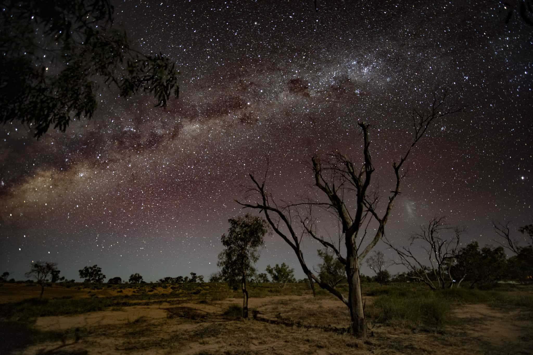 Milky Way viewed in Outback Queensland