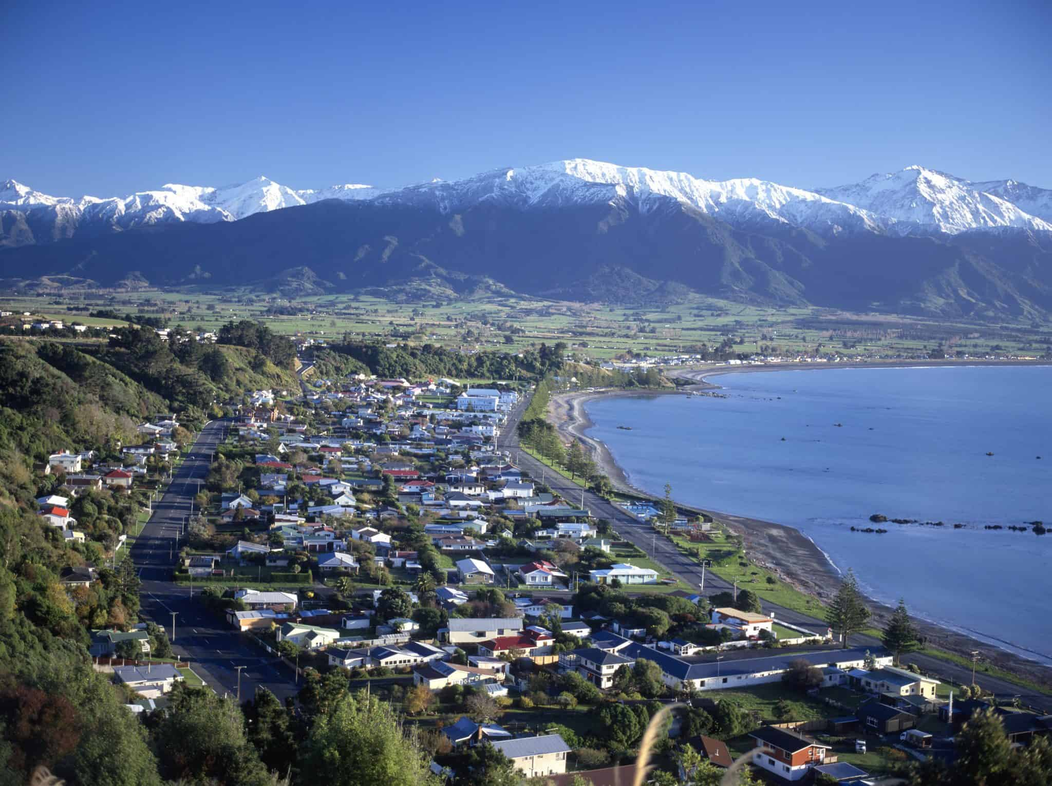 Kaikoura on the south island of New Zealand.