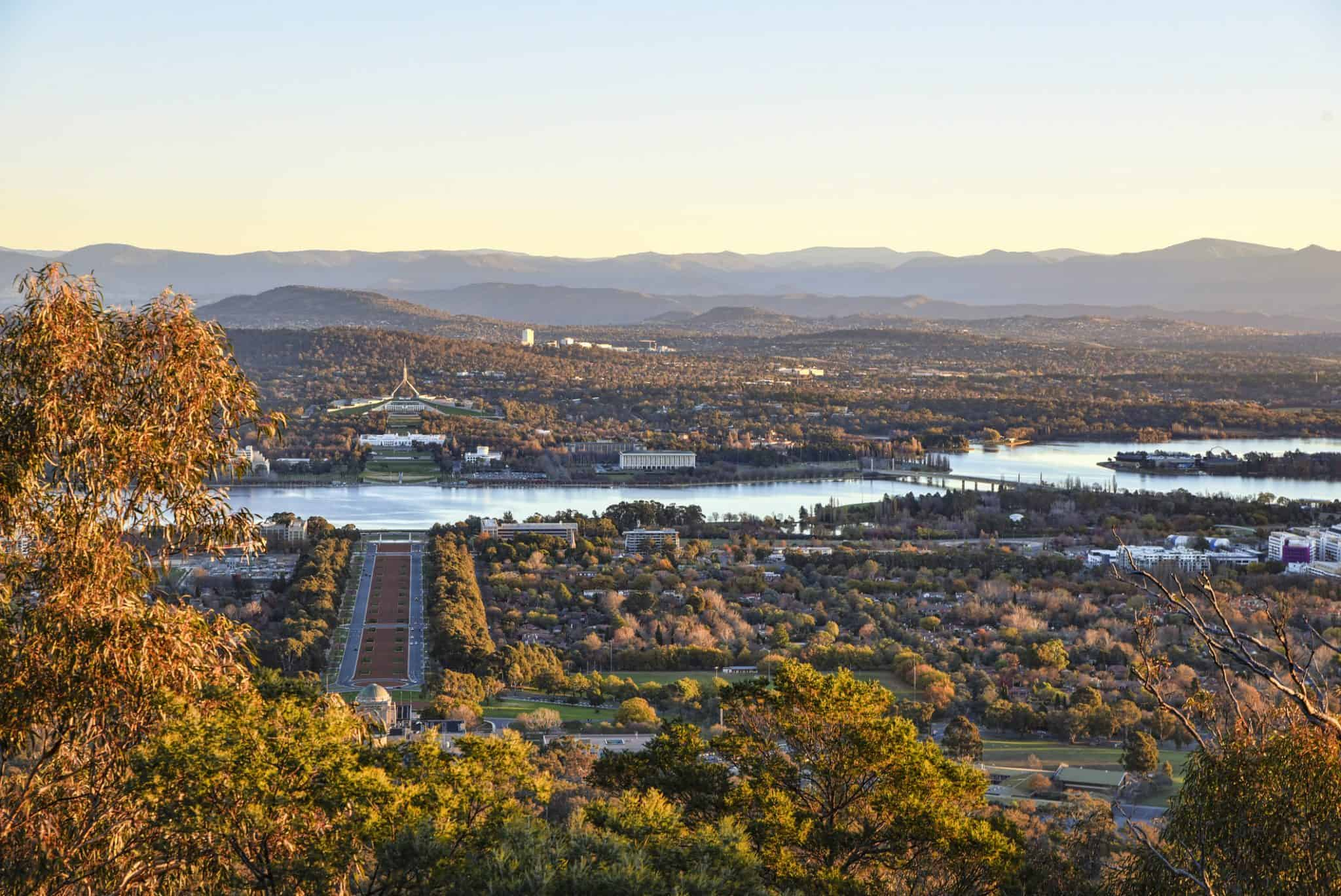 Sunset on Canberra